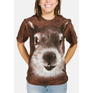 The Mountain Squirrel Face Unisex Tee Brown